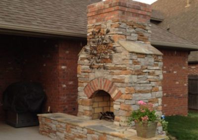 Tulsa Outdoor Fireplace