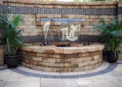 Tulsa Outdoor Fire Pit With Waterfall