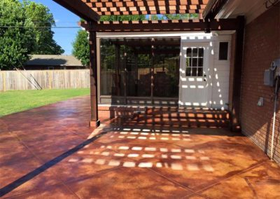 Stained Concrete Patio & Pergola