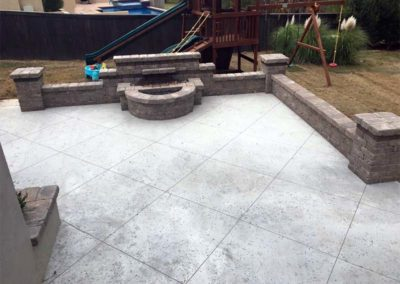 Concrete Patio & Gas Fire Pit