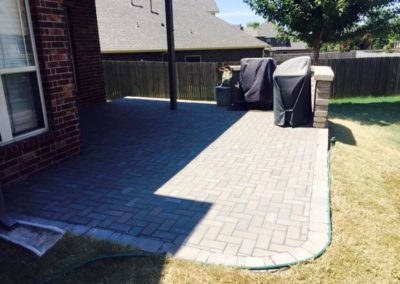 Patio Pavers Curved Design