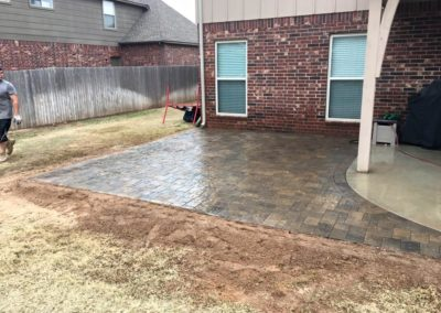 Patio Pavers Project in Tulsa