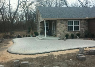 Tulsa Patio Paver Curved Design