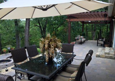 Pavers & Pergola in Woods