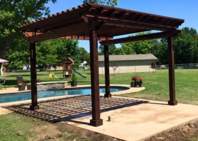 Pergola Next to Pool