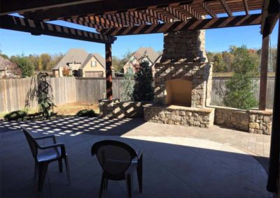 Tulsa Outdoor Fireplace & Pergola