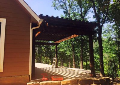 Pergola in Wooded Area